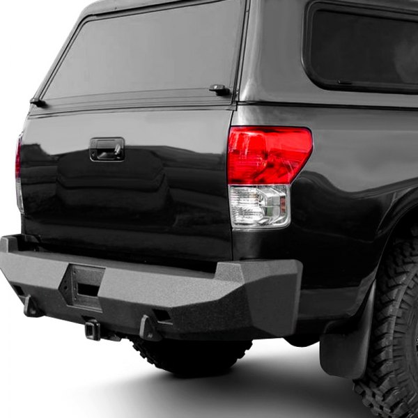 Road Armor® - Stealth Series Black Powdercoated Rear Winch Bumper with Square Light Mounts