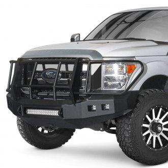 Road Armor® - Stealth Series Full Width Front HD Bumper with Foreman Guard