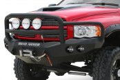 Road Armor® - Stealth Series Full Width Front HD Black Powder Coat Bumper Image may not reflect your vehicle!