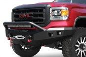 Road Armor® - Stealth Series Full Width Front HD Black Powder Coat Bumper Image may not reflect your exact vehicle!
