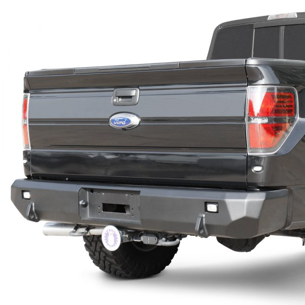 Road Armor® - Stealth Series Full Width Rear HD Black Powder Coat Bumper Image may not reflect your exact vehicle!