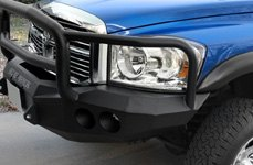 ROAD ARMOR® - Winch Bumper with Round Light Mounts on GMC Sierra