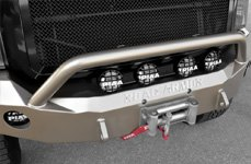 ROAD ARMOR® - Front Winch Bumper with Lonestar Guard and Round Light Mounts