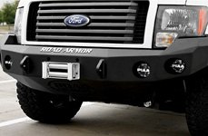 ROAD ARMOR® - Front Bumper with Round Light Mounts on Ford