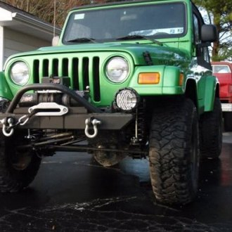 Rock Hard 4x4® - Stubby Front HD Bumper with Angled Forward Hoop