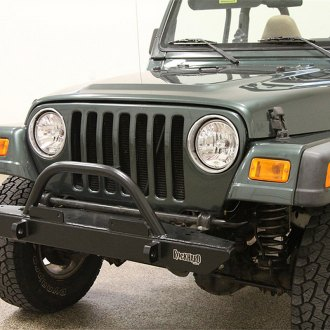 Rock Hard 4x4® - Stubby Front HD Bumper with Straight Up Hoop