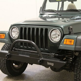 Rock Hard 4x4® - Mid Width Front HD Bumper with Straight Up Hoop