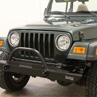 Rock Hard 4x4® - Full Width Front HD Bumper with Straight Up Hoop
