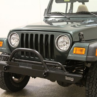 Rock Hard 4x4® - Full Width Front HD Bumper with Straight Up Hoop and Tube Extensions
