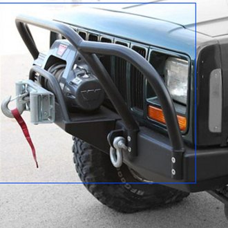 Rock Hard 4x4® - Patriot Series Full Width Black Front Winch HD Bumper