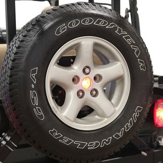 "Rock Hard 4x4® - Black 3rd Brake Light For 2-1/2"" Spare Tire Center Hole"