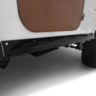 Rock Hard 4x4® - Patriot Series Black Rocker Guards with Tube Sliders