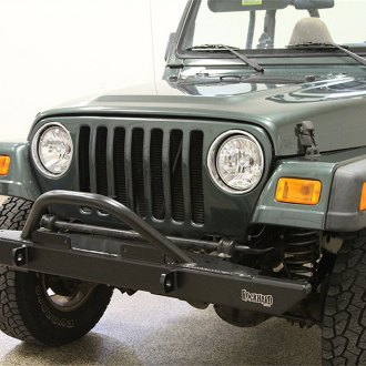 Rock Hard 4x4® - Full Width Front HD Bumper with Angled Forward Hoop