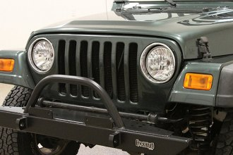 Rock Hard 4x4® - Mid Width Legendary Front Bumper with Straight Up Hoop