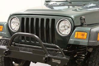 Rock Hard 4x4® - Narrow Width Legendary Front Bumper with Straight Up Hoop and Tube Extensions