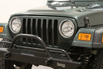 Rock Hard 4x4® - Mid Width Legendary Front Bumper with Straight Up Hoop and Tube Extensions