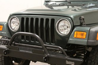 Rock Hard 4x4® - Full Width Legendary Front Bumper with Straight Up Hoop and Tube Extensions