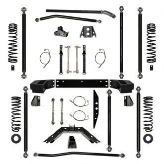 "Rock Krawler® - 4.5"" x 4.5"" Off-Road Pro Long Arm Front and Rear Suspension Lift Kit"