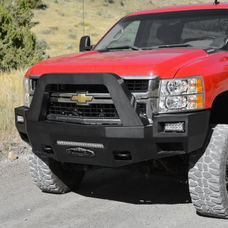 Rock Slide Engineering® - Patriot Series Full Width Front HD Winch Bumper with Square Lights Pockets