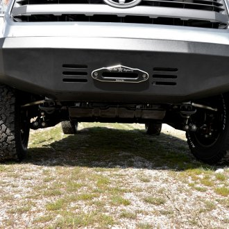 Rock Slide Engineering® - Patriot Series Full Width Front HD Winch Bumper with Square Light Pockets