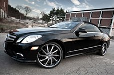 Roderick RW4 Black with Brushed Face and SS Lip on Mercedes E550
