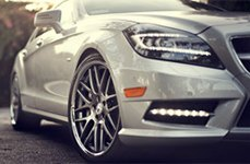 Roderick RW6 Silver with SS Lip on Mercedes CLS550
