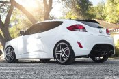 RODERICK® - RW2 Black with Machined Face and SS Lip on Hyundai Veloster