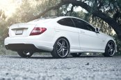 RODERICK® - RW2 Black with Machined Face and SS Lip on Mercedes C Class
