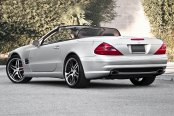 RODERICK® - RW2 Black with Machined Face and SS Lip on Mercedes SL500