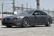 RODERICK® - RW3 Black with Brushed Face and SS Lip on BMW 6-Series