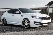 RODERICK® - RW3 Black with Brushed Face and SS Lip on Kia Optima