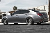 RODERICK® - RW3 Black with Brushed Face and SS Lip on Lexus GS 350