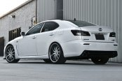 RODERICK® - RW3 Black with Brushed Face and SS Lip on Lexus IS