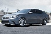 RODERICK® - RW3 Black with Machined Face and SS Lip on Lexus GS 350