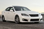 RODERICK® - RW3 Black with Machined Face and SS Lip on Lexus IS