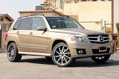 RODERICK® - RW4 Black with Brushed Face and SS Lip on Mercedes GLK350