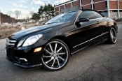 RODERICK® - RW4 Black with Machined Face and SS Lip on Mercedes E550