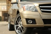 RODERICK® - RW4 Black with Machined Face and SS Lip on Mercedes GLK350