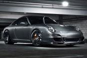 RODERICK® - RW5 Matte Black on Porsche Carrera