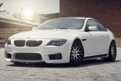 RODERICK® - RW6 Black with Brushed Face on BMW 6-Series