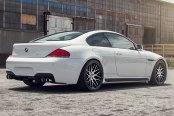 RODERICK® - RW6 Black with Machined Face on BMW 6-Series