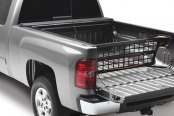 Image may not reflect your exact vehicle! ROLL-N-LOCK� - Cargo Manager� Rolling Bed Organizer Easy Positioning Feature