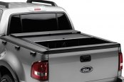 Image may not reflect your exact vehicle! Roll-N-Lock® - M-Series™ Retractable Tonneau Cover, Mid Opened
