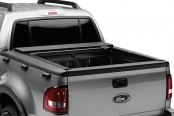 Image may not reflect your exact vehicle! Roll-N-Lock® - M-Series™ Retractable Tonneau Cover, Opened