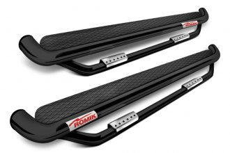 Romik® - RB Series Black Powdercoat Running Board Side Steps with Add-on