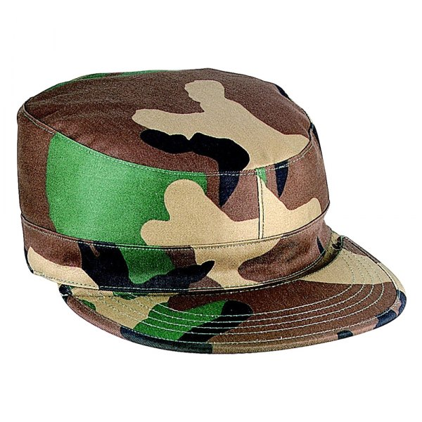 Rothco® - Woodland Camo Gov't Spec 2 Ply Poly/Cotton Army Ranger Fatigue Cap , S Size
