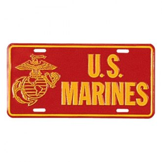 Rothco® - License Plate with US Marines