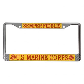 Rothco® - License Plate Frame with U.S. Marines Logo