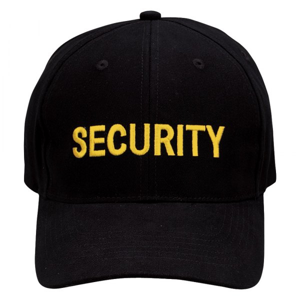 Rothco® - Black / Gold Security Supreme Low Profile Insignia Cap