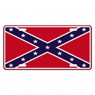 Rothco® - License Plate with Rebel Flag